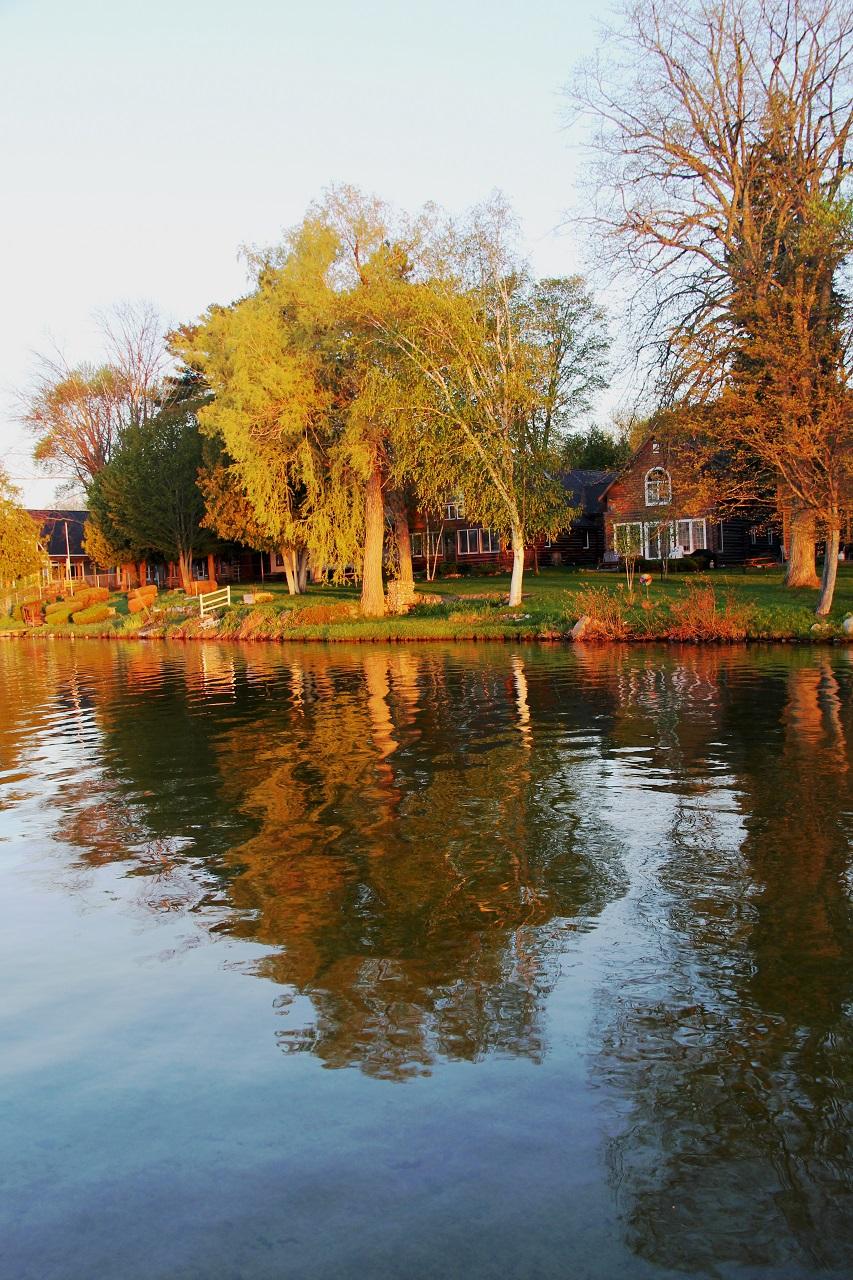 Early fall lake view