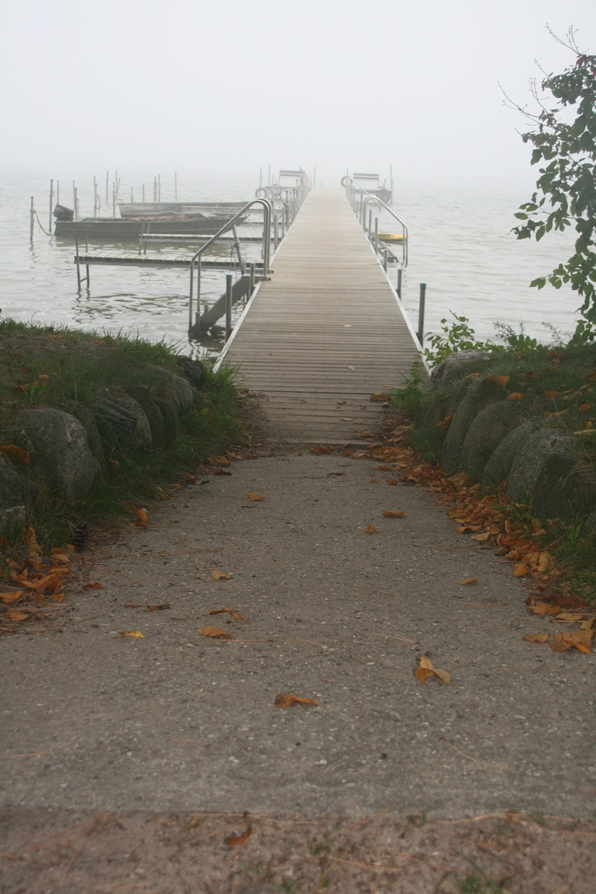 Foggy morning on Lake Leelanau
