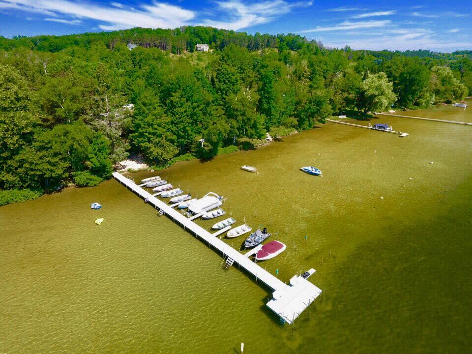 Dock shot - drone photo